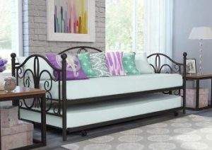 DHP Twin Metal Daybed and Roll Out Trundle