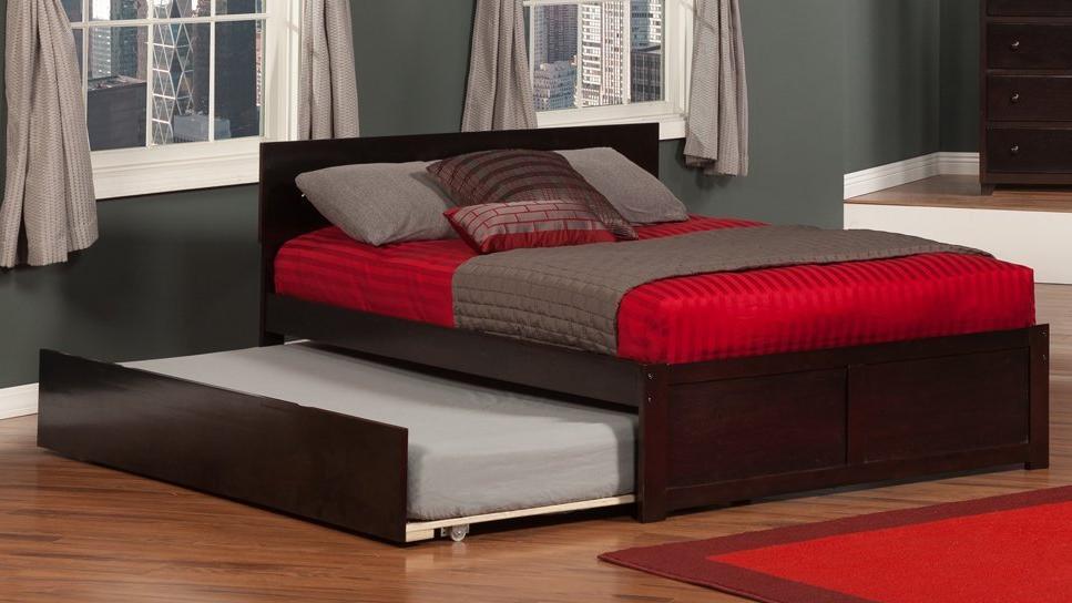 best trundle bed frames metal wooden upholstered. Black Bedroom Furniture Sets. Home Design Ideas