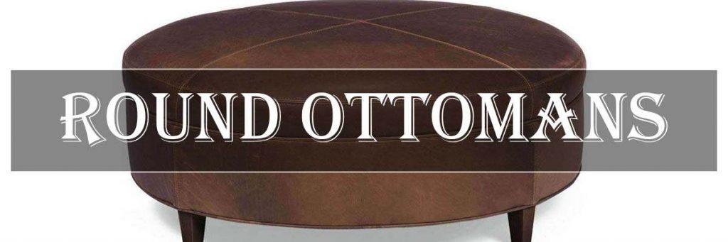 round ottomans