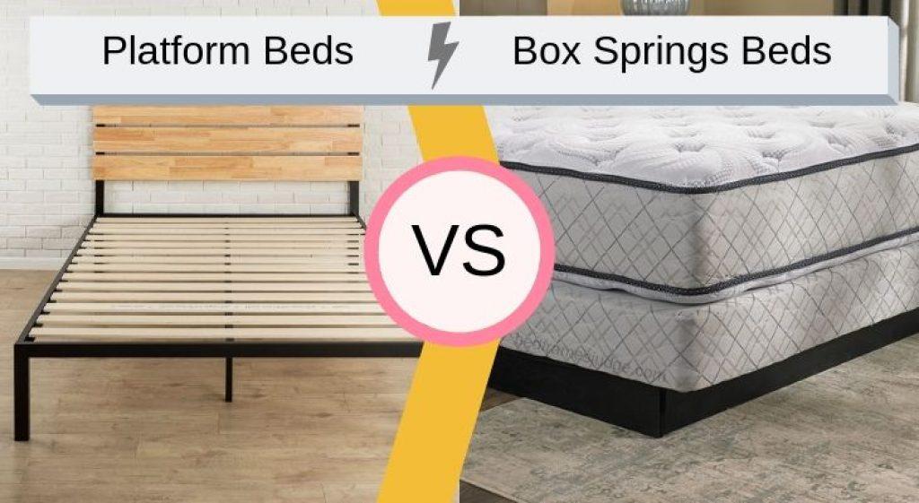 platform beds vs box springs beds
